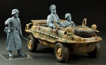 German VK128 crews in Eastern Front - 3 Figuren · HF 724 ·  Hobby Fan · 1:35
