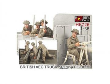 British AEC Truck crew- 4 Figures · HF 726 ·  Hobby Fan · 1:35