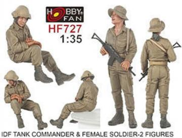 IDF Tank Commander & Female soldier - 2 Figuren · HF 727 ·  Hobby Fan · 1:35