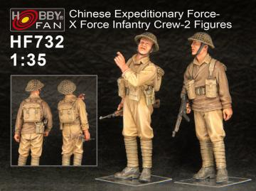 Chinese Expeditionary Force-X Force Infa Infantry Crew-2 Figures · HF 732 ·  Hobby Fan · 1:35