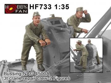 Bussing-NAG 4500A 3t crane repair crew-2 Figures · HF 733 ·  Hobby Fan · 1:35