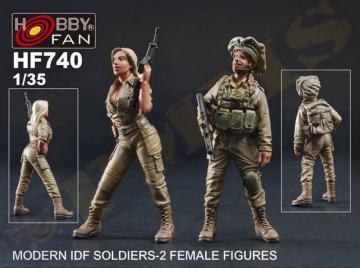 Modern IDF Soldiers - 2 Female Figures · HF 740 ·  Hobby Fan · 1:35