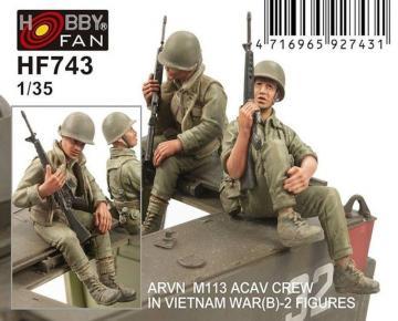 ARVN M113 Crew(2) -2 Figures · HF 743 ·  Hobby Fan · 1:35