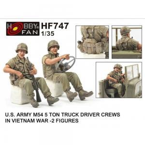 U.S. ARMY M54 5Ton Truck Drivers Crew - Vietnam War [2 Figuren] · HF 747 ·  Hobby Fan · 1:35