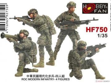 ROC Modern Infantry - 4 Figuren · HF 750 ·  Hobby Fan · 1:35