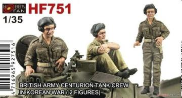 British Army Centurion Tank Crew in Korean War - 2 Figuren · HF 751 ·  Hobby Fan · 1:35