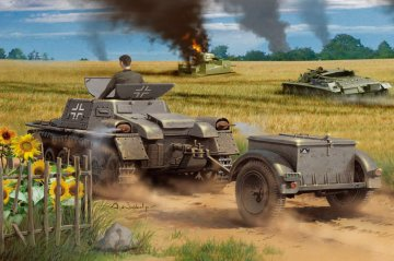 Munitionsschlepper auf Panzerkampfwagen I Ausf A with Ammo Trailer · HBO 80146 ·  HobbyBoss · 1:35
