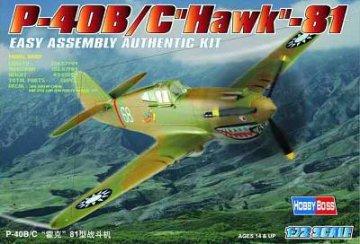 P-40B/C ´´HAWK´´-81A · HBO 80209 ·  HobbyBoss · 1:72