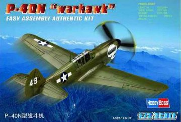 P-40N ´´Kitty hawk´´ · HBO 80252 ·  HobbyBoss · 1:72