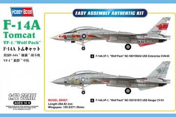 F-14A Tomcat VF-1 - Wolf Pack · HBO 80279 ·  HobbyBoss · 1:72