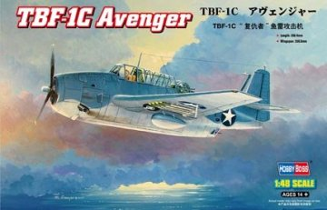Grumman TBF-1C Avenger · HBO 80314 ·  HobbyBoss · 1:48