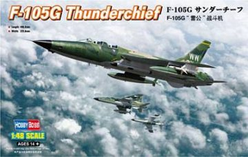 F-105G Thunderchief · HBO 80333 ·  HobbyBoss · 1:48