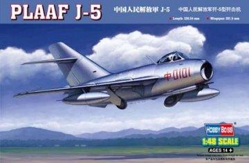 PLAAF J-5 Chinesische Volksarmee · HBO 80335 ·  HobbyBoss · 1:48