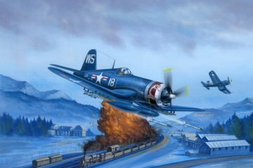 F4U-4 Corsair Late version · HBO 80387 ·  HobbyBoss · 1:48