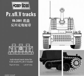 Pz.Sfl.IV ´´Sturer  Emil´´ tracks · HBO 81001 ·  HobbyBoss · 1:35