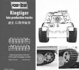 Kingtiger  late production tracks · HBO 81002 ·  HobbyBoss · 1:35