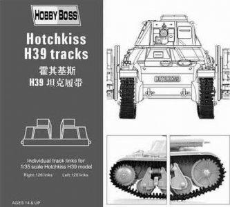 Hotchkiss H39 tank tracks · HBO 81003 ·  HobbyBoss · 1:35