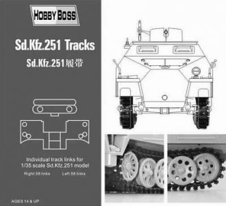 Sd.Kfz 251 tracks · HBO 81005 ·  HobbyBoss · 1:35