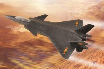 Chinese J-20 Mighty Dragon · HBO 81902 ·  HobbyBoss