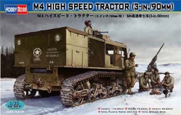 M4 HIGH SPEED TRACTOR(3-in./90mm) · HBO 82407 ·  HobbyBoss · 1:35