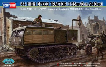 M4 High Speed Tractor(155mm/8-in./240mm) · HBO 82408 ·  HobbyBoss · 1:35