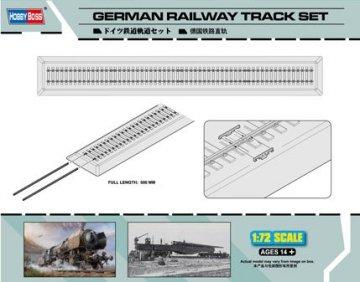 German Railway Track set · HBO 82902 ·  HobbyBoss · 1:72