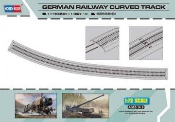 German Railway Curved Track · HBO 82910 ·  HobbyBoss · 1:72