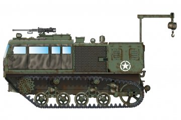 M4 High Speed Tractor(155mm/8-in./240mm) · HBO 82921 ·  HobbyBoss · 1:72