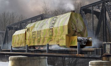 German Panzerlok BR57 Armoured Lokomotive · HBO 82922 ·  HobbyBoss · 1:72