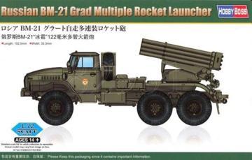 Russian BM-21 Grad Multiple Rocket Launcher · HBO 82931 ·  HobbyBoss · 1:72