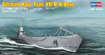 German Navy Type VII-B U-Boat · HBO 83504 ·  HobbyBoss · 1:350