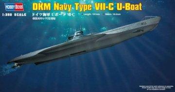 German Navy Type VII-C U-Boat · HBO 83505 ·  HobbyBoss · 1:350