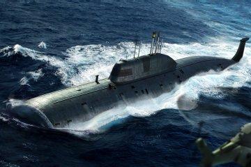 Russian Navy SSN Akula Submarine · HBO 83525 ·  HobbyBoss · 1:350