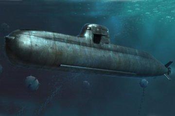 German Navy Type 212 Attack Submarine · HBO 83527 ·  HobbyBoss · 1:350