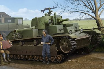 Soviet T-28 Medium Tank (Cone Turret) · HBO 83855 ·  HobbyBoss · 1:35