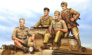 German Tropical Panzer Crew · HBO 84409 ·  HobbyBoss · 1:35