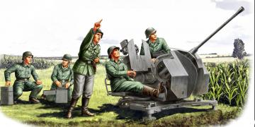 20mm Flak 38 - Figure Set · HBO 84412 ·  HobbyBoss · 1:35
