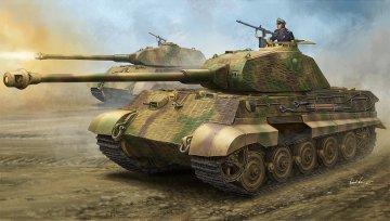 German Sd.Kfz.182 King Tiger Porsche Turret w/Zimmerit · HBO 84530 ·  HobbyBoss · 1:35