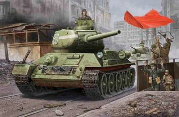 RussianT-34/85(1944 angle-jointed turret) tank · HBO 84809 ·  HobbyBoss · 1:48