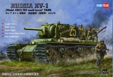 Russian KV-1 1941 Small Turret tank · HBO 84810 ·  HobbyBoss · 1:48