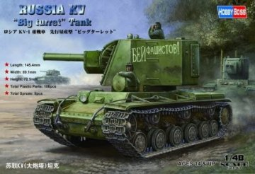 Russian KV Big Turret Tank · HBO 84815 ·  HobbyBoss · 1:48