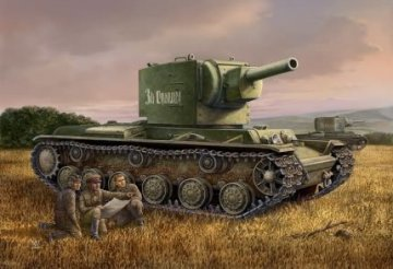Russian  KV-2 Tank · HBO 84816 ·  HobbyBoss · 1:48