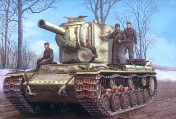 German Pz.Kpfw KV-2 754(r) tank · HBO 84819 ·  HobbyBoss · 1:48