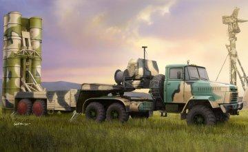 Russian KrAZ-260B Trctor w. 5P85TE TEL S-300PMU · HBO 85511 ·  HobbyBoss · 1:35
