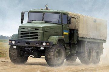 Ukraine KrAZ-6322 Soldier Cargo Truck · HBO 85512 ·  HobbyBoss · 1:35