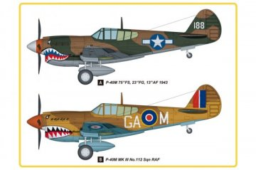 P-40E Kitty Hawk Fighter · HBO 85801 ·  HobbyBoss · 1:48