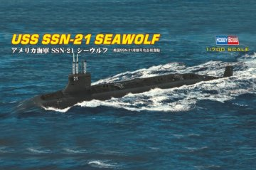 USS SSN-21 SEAWOLF ATTACK SUBMARINE · HBO 87003 ·  HobbyBoss · 1:700