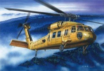 American UH-60A ´´Blackhawk´´ helicopter · HBO 87216 ·  HobbyBoss · 1:72