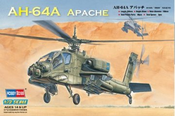 Hughes AH-64A Apache Attack Helicopter · HBO 87218 ·  HobbyBoss · 1:72