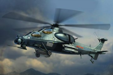 Chinese Z-10 Attack Helicopter · HBO 87253 ·  HobbyBoss · 1:72